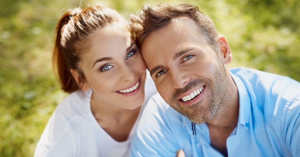 Happy, Smiling Couple with Amazing Teeth